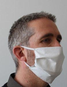 masque textile catégorie 1 avec élastique