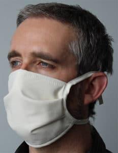 masque textile catégorie 1 avec liens